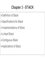 Data Structures and Algorithms - Chapter 3 -STACK ppt