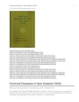 Venereal Diseases in New Zealand (1922) doc