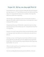 Trojan 2.0 - Hệ luỵ của công nghệ Web 2.0 potx