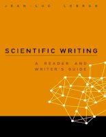 SCIENTIFIC WRITING A READER AND WRITER'S GUIDE docx