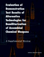 Evaluation of Demonstration Test Results of Alternative Technologies for Demilitarization of Assembled Chemical Weapons A Supplemental Review docx