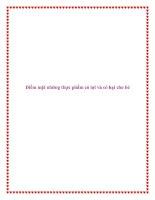 Điểm mặt những thực phẩm có lợi và có hại cho bé pdf