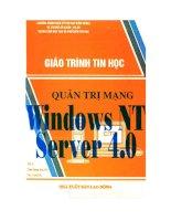 giáo trình tin học quản trị mạng windows nt server 4.0