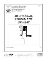 MECHANICAL EQUIVALENT OF HEAT - Instruction Manual and Experiment Guide for the PASCO scientific Model TD-8551A potx