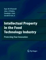 Intellectual Property in the Food Technology Industry potx