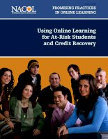 Using Online Learning for At-Risk Students and Credit Recovery ppt