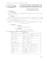 Tài Liệu Tham Khảo Ôn Tập thi tốt nghiệp 2013 chuyên đề nguyên hàm tích phân potx