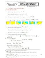Tài liệu tham khảo ôn tập thi tốt nghiệm 2013 chuyên đề 6 khối đa diện và tròn xoay ppt