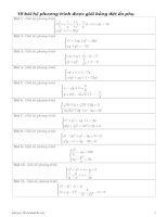 15 bài hệ phương trình được giải bằng đặt ẩn phụ pdf