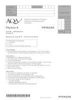 Vật lý A level: AQA PHYA5 2a QP JUN12