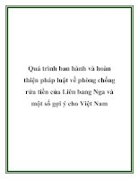 Quá trình ban hành và hoàn thiện pháp luật về phòng chống rửa tiền của Liên bang Nga và một số gợi ý cho Việt Nam ppt