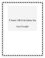 5 bước SEO từ khóa lên top Google docx