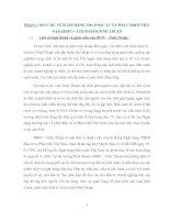 TRẠNG HOẠT ĐỘNG CHO VAY TIÊU DÙNG TÍN CHẤP ĐỐI VỚI KHÁCH HÀNG CÁ NHÂN TẠI BIDV - NINH THUẬN