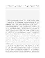 Cách thuyết minh về tác giả Nguyễn Trãi pdf