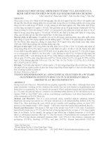 KHẢO SÁT MỘT SỐ ĐẶC ĐIỂM DỊCH TỂ HỌC VÀ LÂM SÀNG CỦA BỆNH TRĨ Ở NGƯỜI TRÊN 50 TUỔI TẠI THÀNH PHỐ HỒ CHÍ MINH pptx