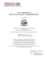 THE ORIGINS OF MODERN PROJECT MANAGEMENT: Fourth Annual PMI College of Scheduling Conference potx