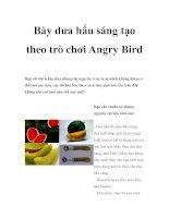 Bày dưa hấu sáng tạo theo trò chơi Angry Bird docx