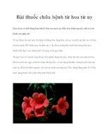 Bài thuốc chữa bệnh từ hoa tử uy pdf