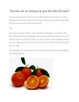 Nên cho con ăn những loại quả khi thời tiết lạnh? ppt