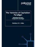 The Varieties of Capitalism Paradigm: Explaining Germany''''s Comparative Advantage? pdf
