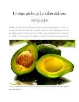 10 thực phẩm giúp kiềm chế cơn nóng giận pdf