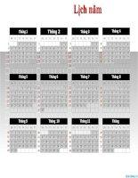 mẫu lịch năm dùng trong powerpoint