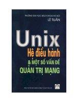 Unix hệ điều hành và một số vấn đề quản trị mạng doc