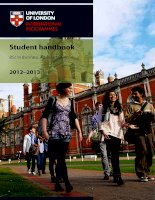 Student handbook BSc in Business Administration 2012–2013 ppt