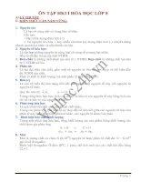 Đề cương ôn tập HK 1 - Môn Hóa học lớp 9 docx