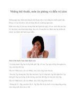 Những bài thuốc, món ăn phòng và điều trị cúm pptx