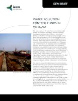 WATER POLLUTION CONTROL FUNDS IN VIETNAM ppt