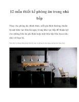 12 mẫu thiết kế phòng ăn trong nhà bếp ppt