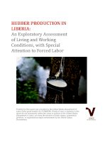 RUBBER PRODUCTION IN LIBERIA: An Exploratory Assessment of Living and Working Conditions, with Special Attention to Forced Labor docx