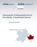 Frameworks of Integrated Care for the Elderly: A Systematic Review potx