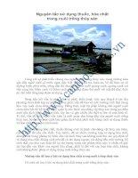 Nguyên tắc sử dụng thuốc, hóa chất trong nuôi trồng thủy sản pptx