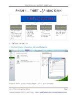 Hướng dẫn sử dụng Microsoft Project 2010 (Phần 1: Thiết lập mặc đinh)