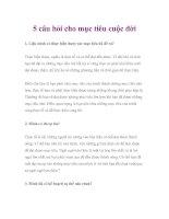5 câu hỏi cho mục tiêu cuộc đời doc