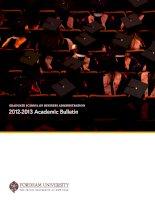 Graduate School of BuSineSS adminiStration 2012-2013 Academic Bulletin docx