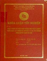 Thực trạng và giải pháp nâng cao chất lượng thẩm định tài chính dự án đầu tư tại chi nhánh NHNN&PTNT Nam Hà Nội