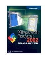 Hướng dẫn sử dụng Microsoft Project 2002 trong lập và quản lý dự án doc