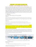 PHẦN MỘT – XỬ LÍ NƯỚC VÀ NƯỚC THẢI CHƯƠNG 1. CÁC PHƯƠNG PHÁP TIỀN XỬ LÝ pdf