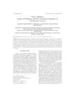Water Pollution: Impact of Pollutants and New Promising Techniques in Purification Process doc