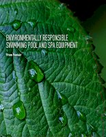 ENVIRONMENTALLY RESPONSIBLE SWIMMING POOL AND SPA EQUIPMENT doc