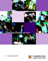 The Cambridge MBA: Not-for-Profit sector pdf