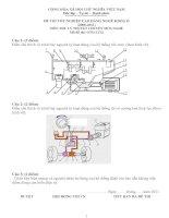 đề thi lý thuyết khóa 2 - công nghệ ôtô - mã đề thi oto - lt (12)