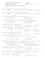 Đề mẫu kiểm tra Giữa học kỳ môn Giải tích 2.+ ppt