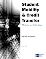 Student Mobility & Credit Transfer: A National and Global Survey pot