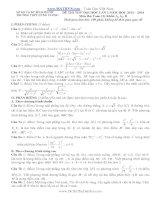 đề thi thử đại học lần 1 môn toán khối a 2014 - thpt chuyên hùng vương