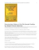 Documentary History of the Rio Grande Pueblos ppt