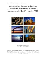Assessing the air pollution benefits of further climate measures in the EU up to 2020 pot